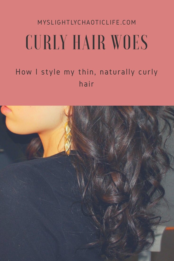 How I style my thin curly hair