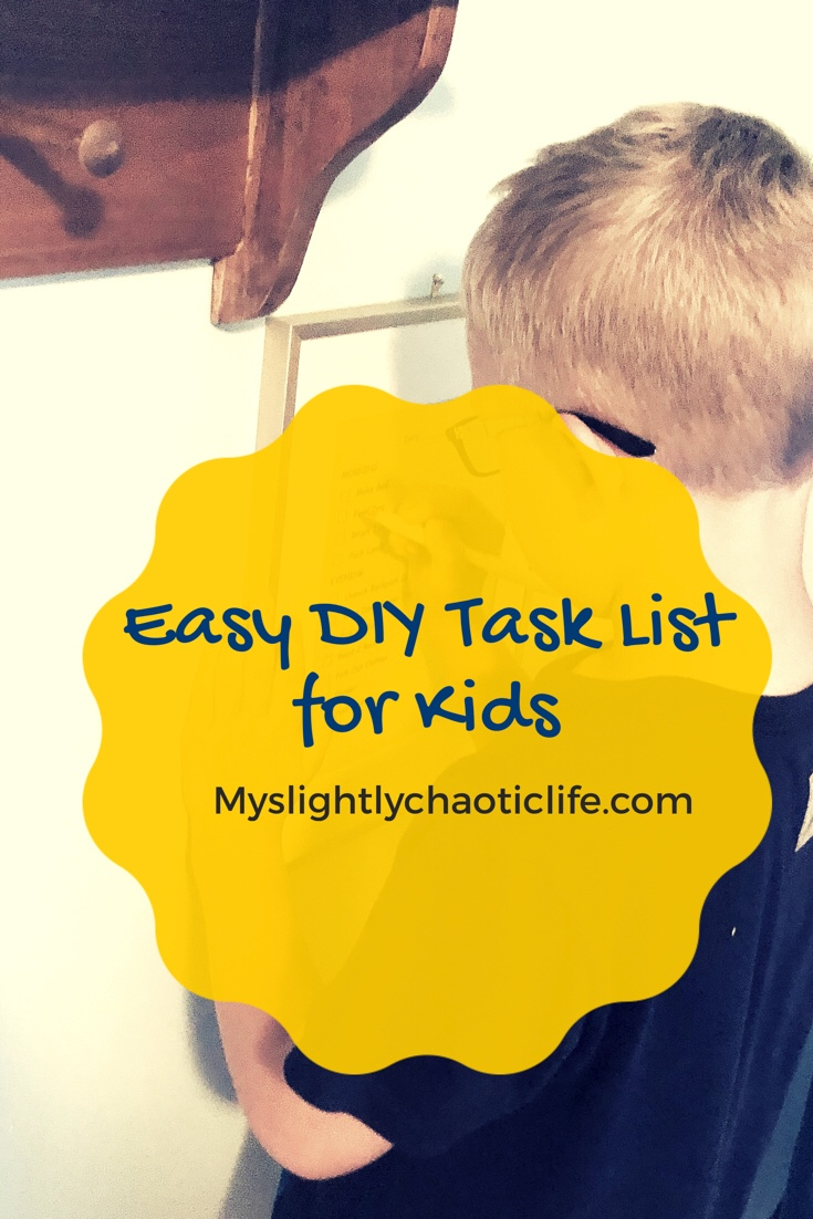 Incredibly easy DIY task list to keep your school aged children on task with what they need to do without an argument.