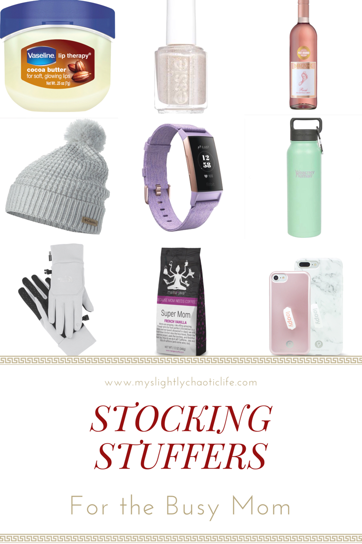 Struggling on what to put in this year's stocking? If your wondering what to put in the busy mom in your life's stocking check out this list for more ideas! | Gift ideas | Holiday | Gifts | Stocking gifts |