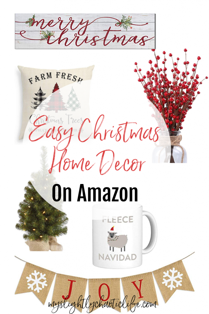 Looking for easy home decor items for the holiday season? Check out these easy Christmas decor items all on amazon. | Home decor | Christmas decor | Christmastime |