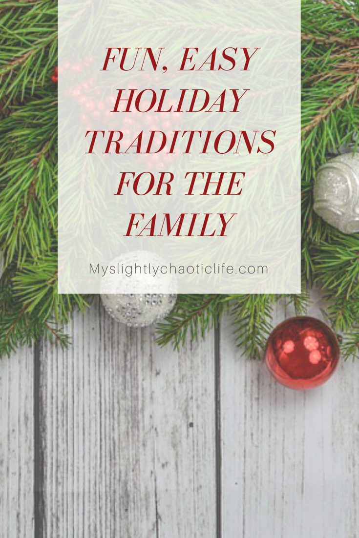 Struggling to find family traditions to do with your family this year? Looking for ways to bring your family together for the holidays? Here you will find a list of fun, easy family traditions that you can start with your family this year! | Holiday | Holiday traditions | Family | Christmas |