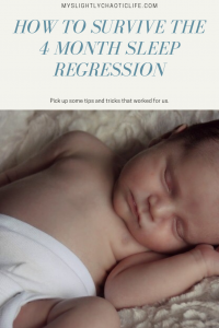 Wondering why your 4 month old won't sleep? Feeling frustrated and tired? Read our story and pick up some helpful tips and tricks to implement for your family today. | Sleep regression | 4 months old | Baby sleep | Sleep tips |