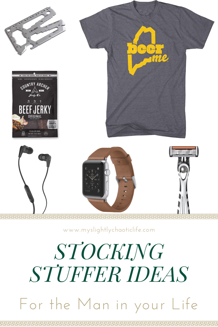 Wondering what gifts to put in your man's stocking? Shopping for your husband, dad or brother and have no idea what to get? Check out these stocking stuffer ideas for men. | Gift ideas | Holidays | Gifts | Gifts for men |