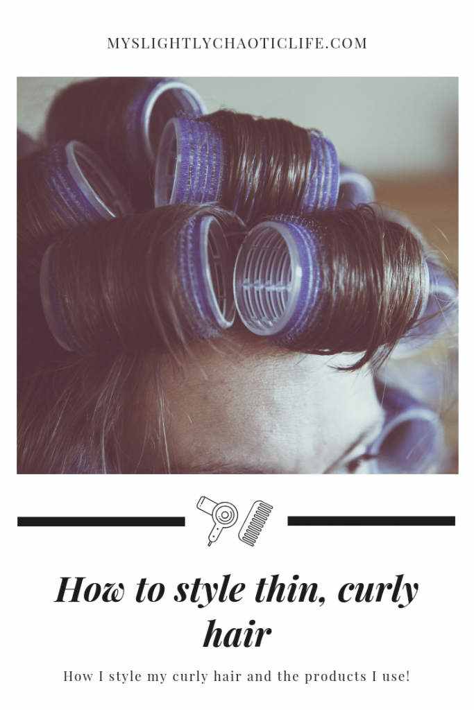 Tips and tricks on how I style my thin, naturally curly hair and the products that I use. | Curly hair | Hair style | Hair hacks | #curlyhair #curlyhairtips #curlyhairhacks