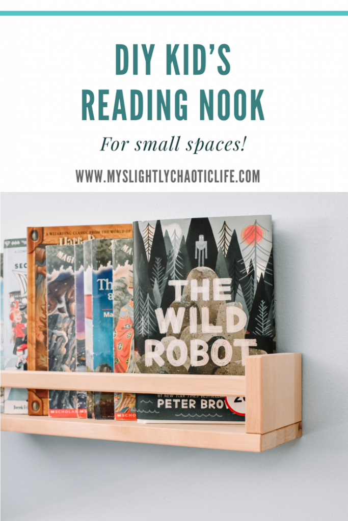 Looking to create a reading nook for your kid's but short on space? Check out this easy DIY reading nook for small spaces. | Reading | Kid's room | Reading nook | Kids |