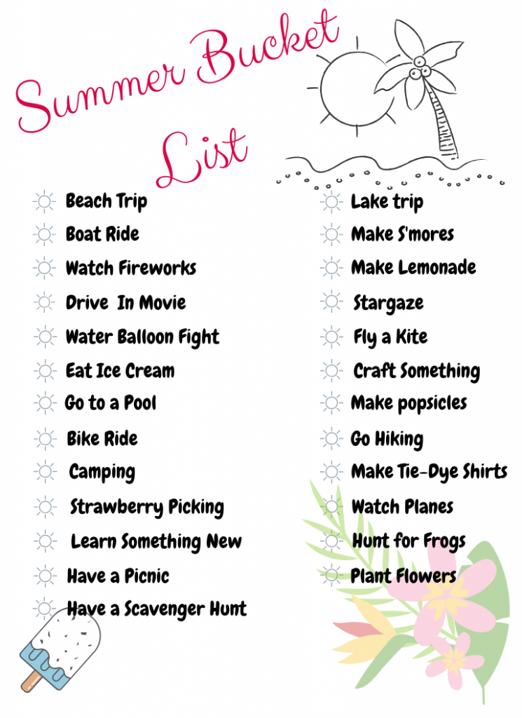 Looking for ideas to add to your summer bucket list? Check out these bucket list ideas for your summer break with free printable! | Summer Activities | Kid's Summer | Bucket List Ideas |